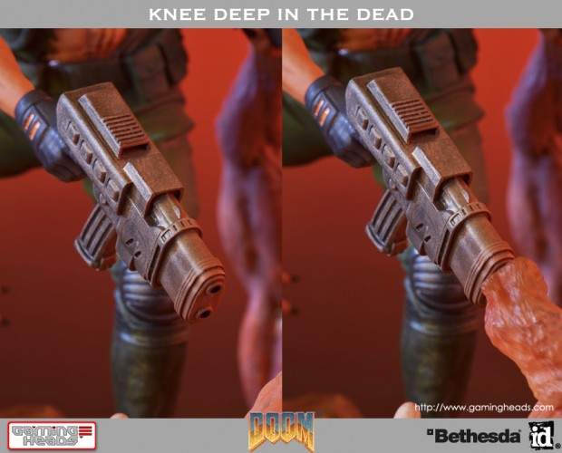 doom knee deep in the dead cover art diorama by gaming heads 5 620x500