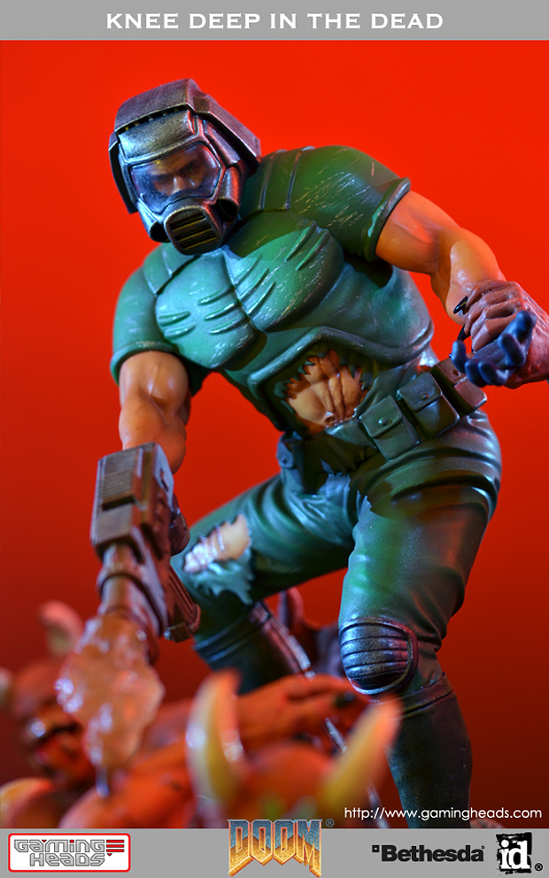 doom knee deep in the dead cover art diorama by gaming heads 6