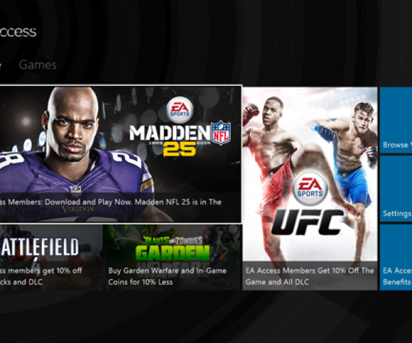 EA Access Subscription Gaming Service hits Xbox One
