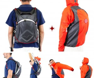 Sudden Downpour? No Worries with the Raincoat-Ejecting Funnell Backpack