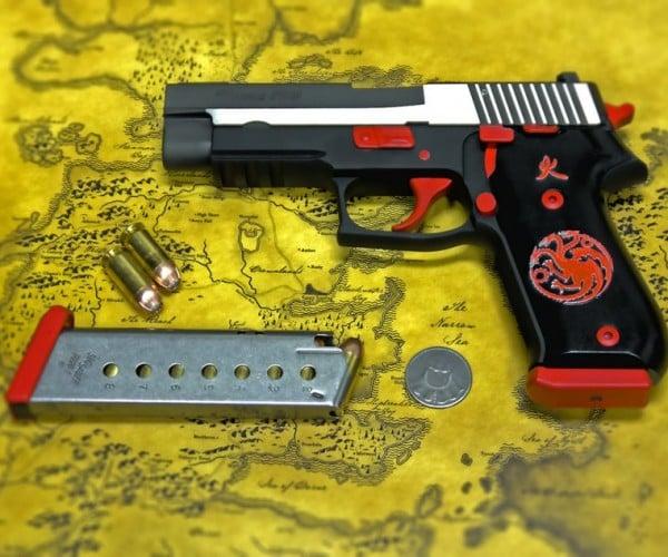 Custom Game of Thrones House Targaryen Pistol: Mother of Handguns