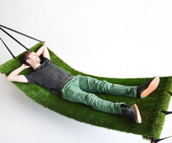Grass Hammock Lets You Sleep on a Bed of Turf