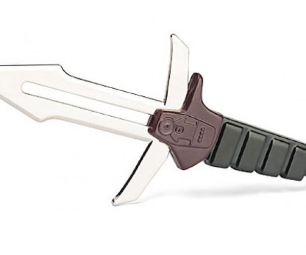 Klingon D'k tahg Letter Opener Slices Envelopes Where they Stand