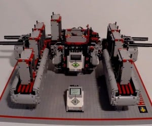 LEGO Tower Building Robot Will Earn the Wrath of The Man Upstairs