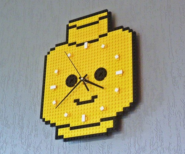 LEGO Minifig Head Clock: Lord Business Time