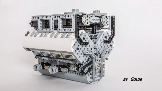 lego w16 bugatti veyron engine scale model by solde 620x347