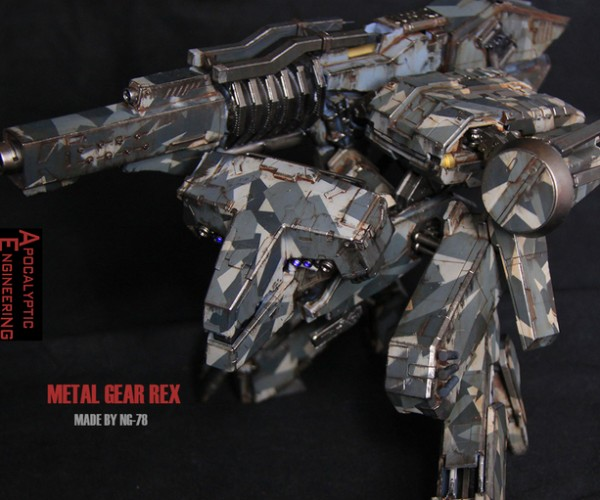 Metal Gear Rex Action Figure has a Working Gun: Metal Gear Rekt
