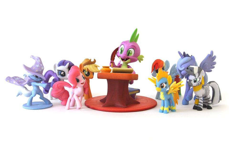 hasbro shapeways launch my little pony fan art store 3d printing
