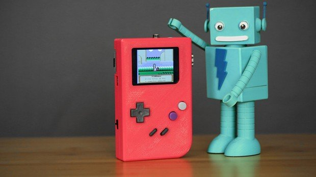 pigrrl raspberry pi 3d printed game boy case by adafruit 620x348
