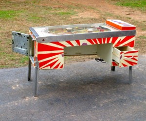Pinball Machine Desk: Insert Coin to Work