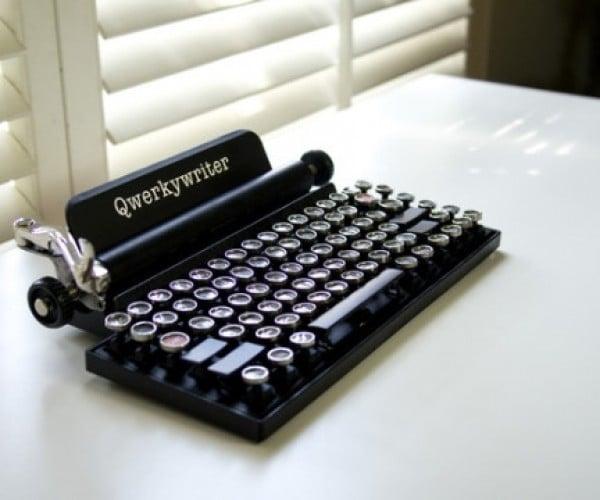 Qwerkywriter Mechanical USB Keyboard Looks Like an Old Typewriter