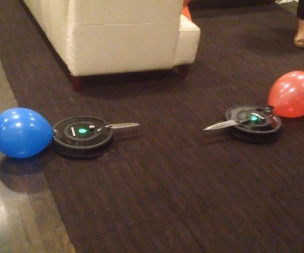 Two Roombas in a Knife Fight: Who Will Emerge Victorious?