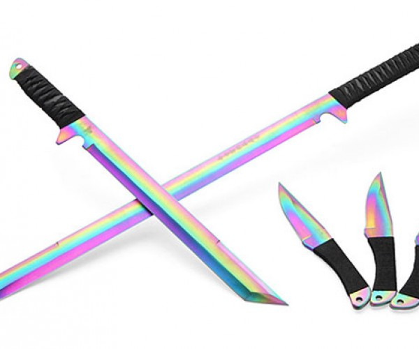 Rainbow Swords are Perfect for Colorful Ninjas