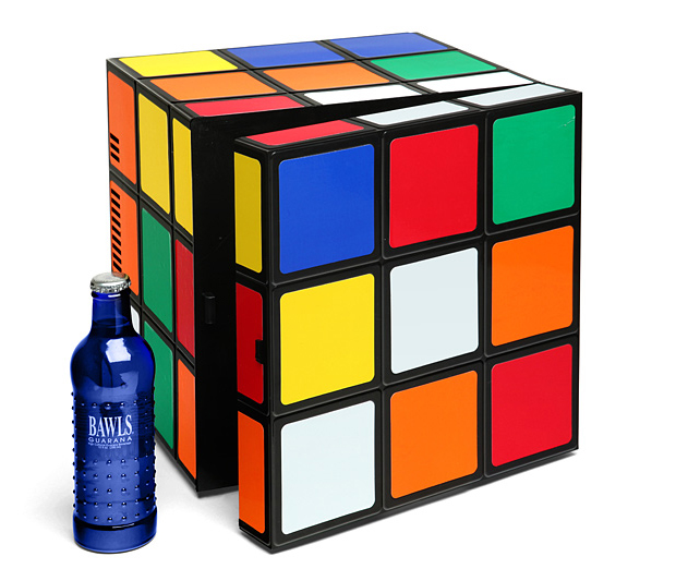 rubiks cube fridge by thinkgeek