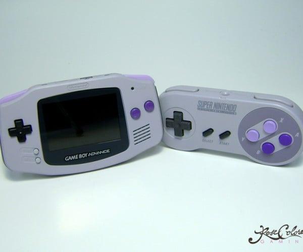 SNES & Super Famicom-themed Backlit GBAs: Super Family Entertainment