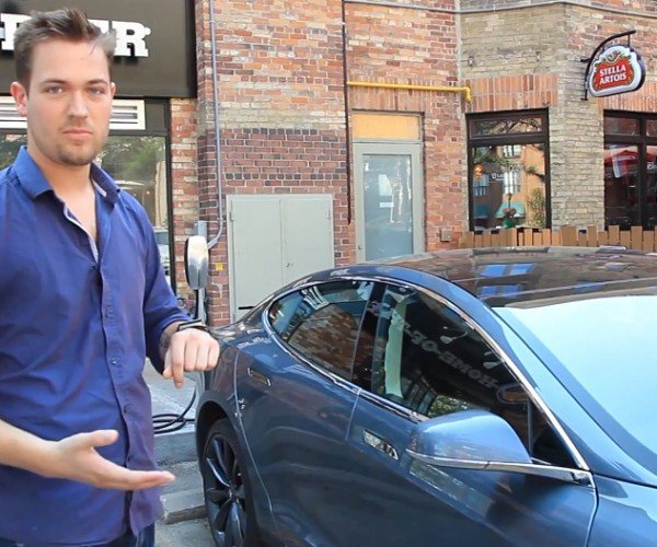 Tesla Model S Remote Control App for Android Wear: Now That's a Cutting Edge Phrase