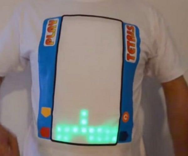 Play Tetris on this T-shirt