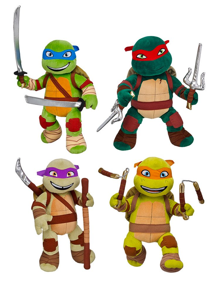 Teenage Mutant Nija Turtle Build A Bear Leonardo Swords