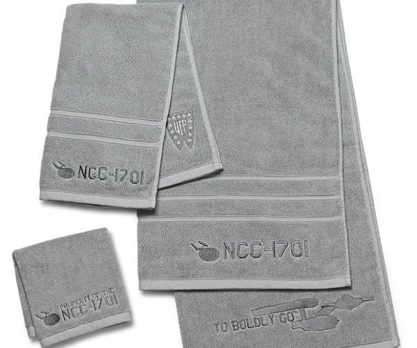 Star Trek 3-Piece Bath Towel Set: To Boldly Bathe…