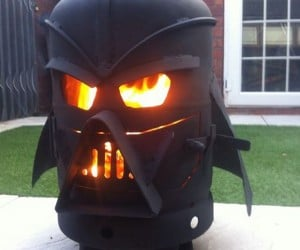 Darth Vader Outdoor Wood Stove: The Smoked Side of the Force
