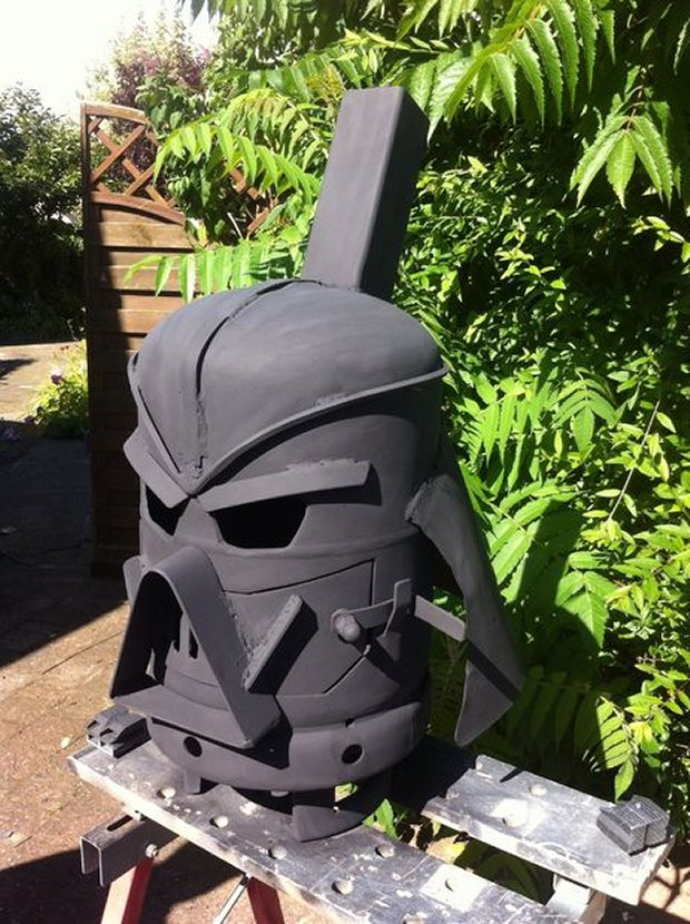 Darth Vader Outdoor Wood Stove The Smoked Side Of The