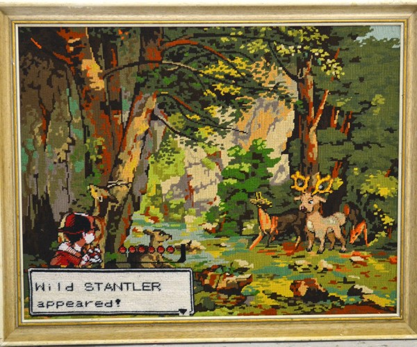 Flea Market Art Turned into Video Game Tapestry: Remastered Edition