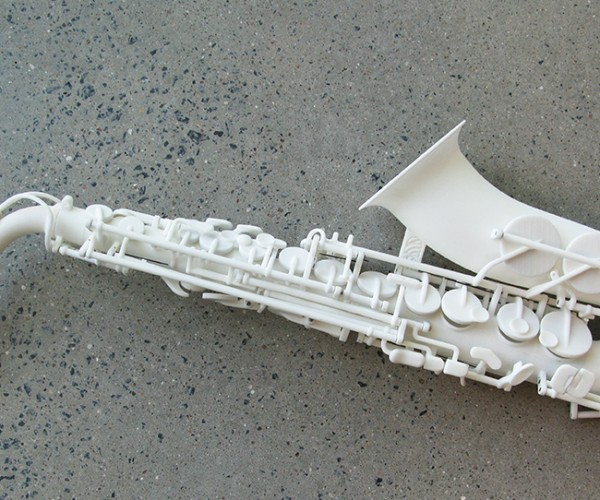3D Printed Saxophone Made with Laser and All that Jazz