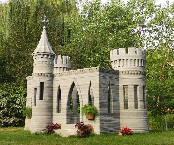 3D Printed Concrete Mini Castle: Disneyland Minnesota