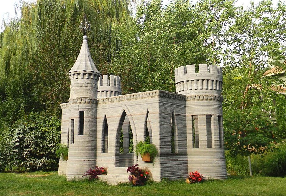3d printed concrete mini castle disneyland minnesota technabob. Black Bedroom Furniture Sets. Home Design Ideas
