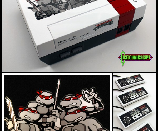 Custom Teenage Mutant Ninja Turtles 30th Anniversary NES: Turtles in Time