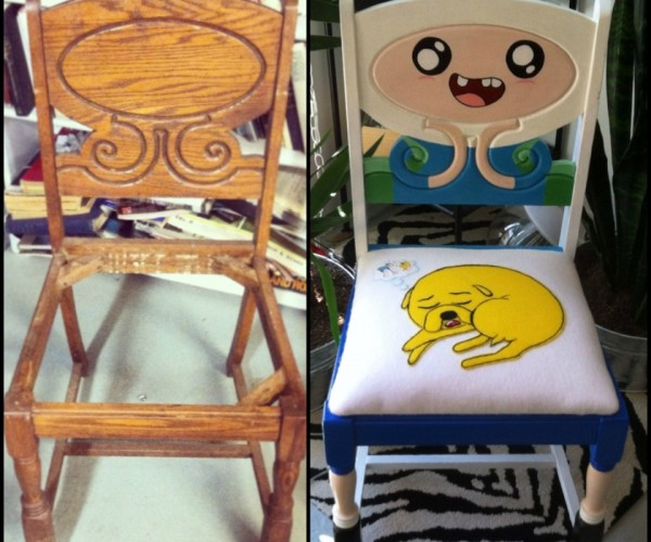 Antique Chair Ugraded with Cool Adventure Time Theme