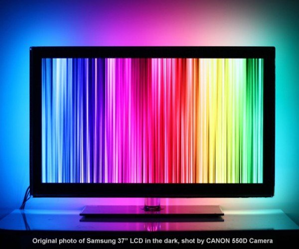 Stick-on LED Ambient Light for PCs: AmbiLED HD