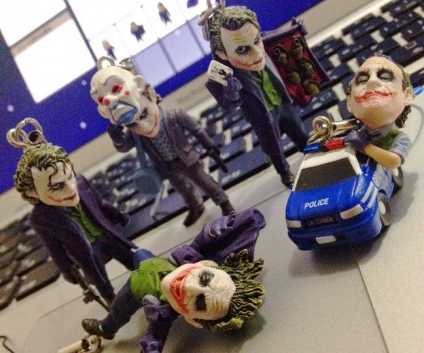 Batman The Dark Knight Joker Keychains: Some Men Just Want to Watch Keys Turn