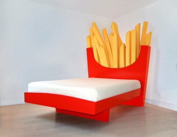 bed of fries