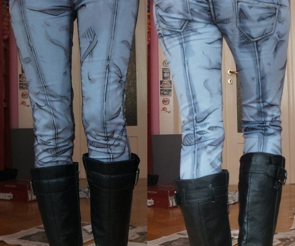 Cel-shaded Jeans: Borderpants