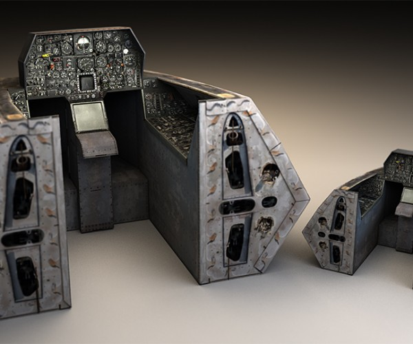Full-size Cardboard Jet Fighter Cockpit Big Enough to Fit Your Office Chair