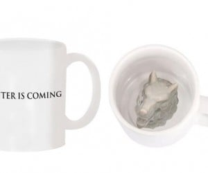 Mug with a Direwolf Head in the Bottom: Refill Is Coming