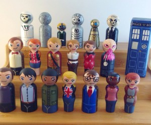 Doctor Who Wood Peg People Playset Can't Be Repaired with a Sonic Screwdriver