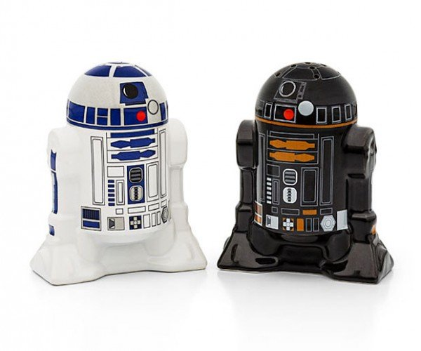 R2-D2 and R2-Q5 Salt and Pepper Shakers: The Dark and Light Side of Seasoning