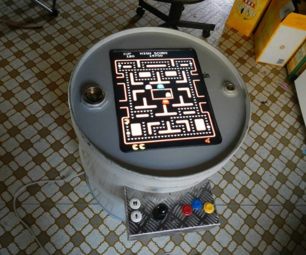 Oil Drum Arcade Machine Gets 1.1 Games per Gallon