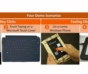 Microsoft Fingertip Haptic Concepts: Hooked on a Feeling