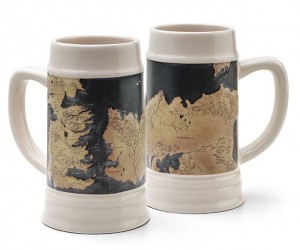 Game of Thrones Map Beer Steins Beg for a Drinking Game