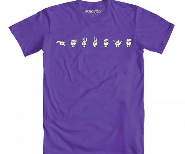 Hawkeye Sign Language T-Shirt: Louder than Words