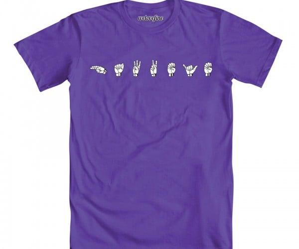 Hawkeye Sign Language T-Shirt: Louder than Words