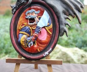Hearthstone Leeroy Jenkins Sculpture: Fan-maaaade Aaaartwoooork!
