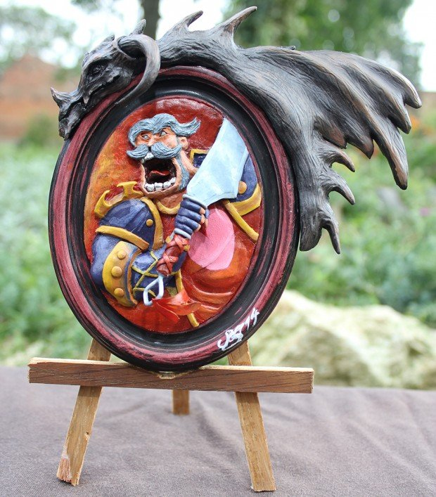 hearthstone-leeroy-jenkins-card-portrait-sculpture-by-Antonio-Balicevic