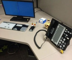 Cubicle Contents Transformed into LEGO by Pranksters
