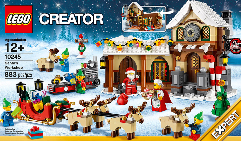 santas workshop lego creator kit unveiled we wish you a blocky christmas