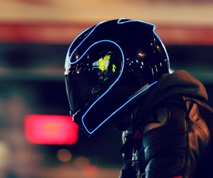LightMode for Motorcycle Helmets: Glow on the Shell