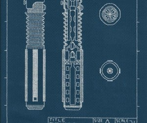 Lightsaber Blueprint Cross-stitch: Needle-aided Design